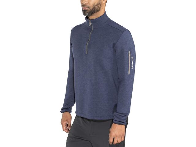 Ivanhoe of Sweden Assar Half-Zip Sweater Herren steelblue